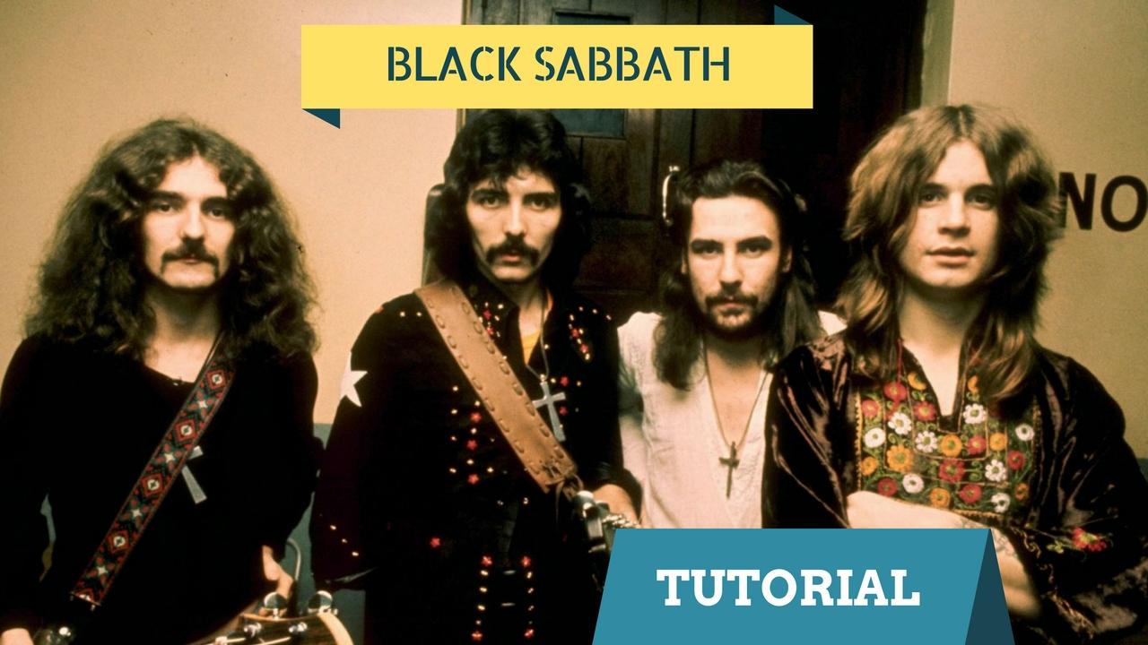 black sabbath paranoid tutorial chitarra elettrica