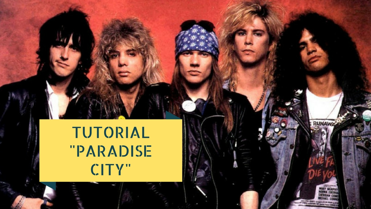 tutorial chitarra elettrica paradise city guns and roses