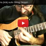 Lezione di Chitarra Marco De Cave - String Skipping
