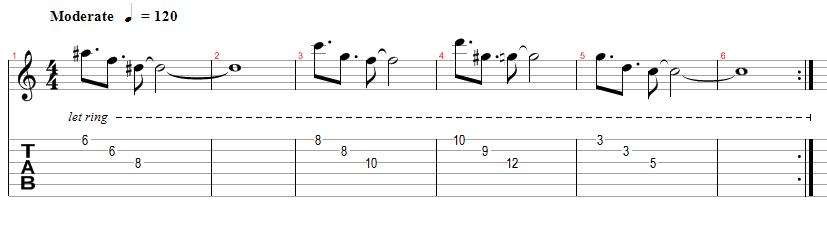arpeggio tab - lezione di chitarra elettrica