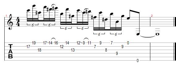 Lezioni di Chitarra Elettrica - Terzo Lick (variazione)