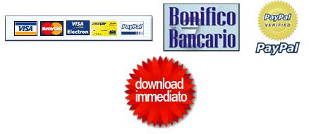 Carte di credito, bonifico, pay pal