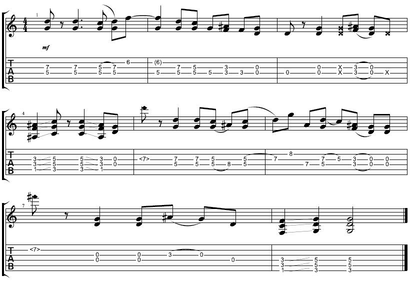 tablature per chitarra gratis