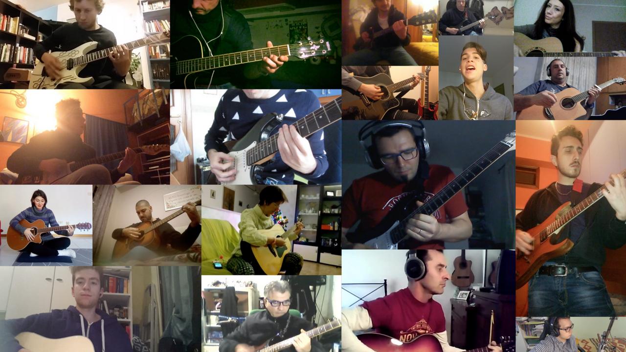 possibile imparare a suonare la chitarra online - corso chitarra online - 20 chitarristi principianti