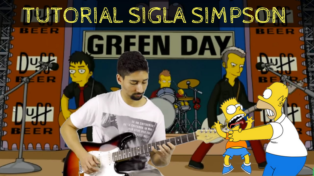 Sigla Simpson Green Day Tutorial Chitarra