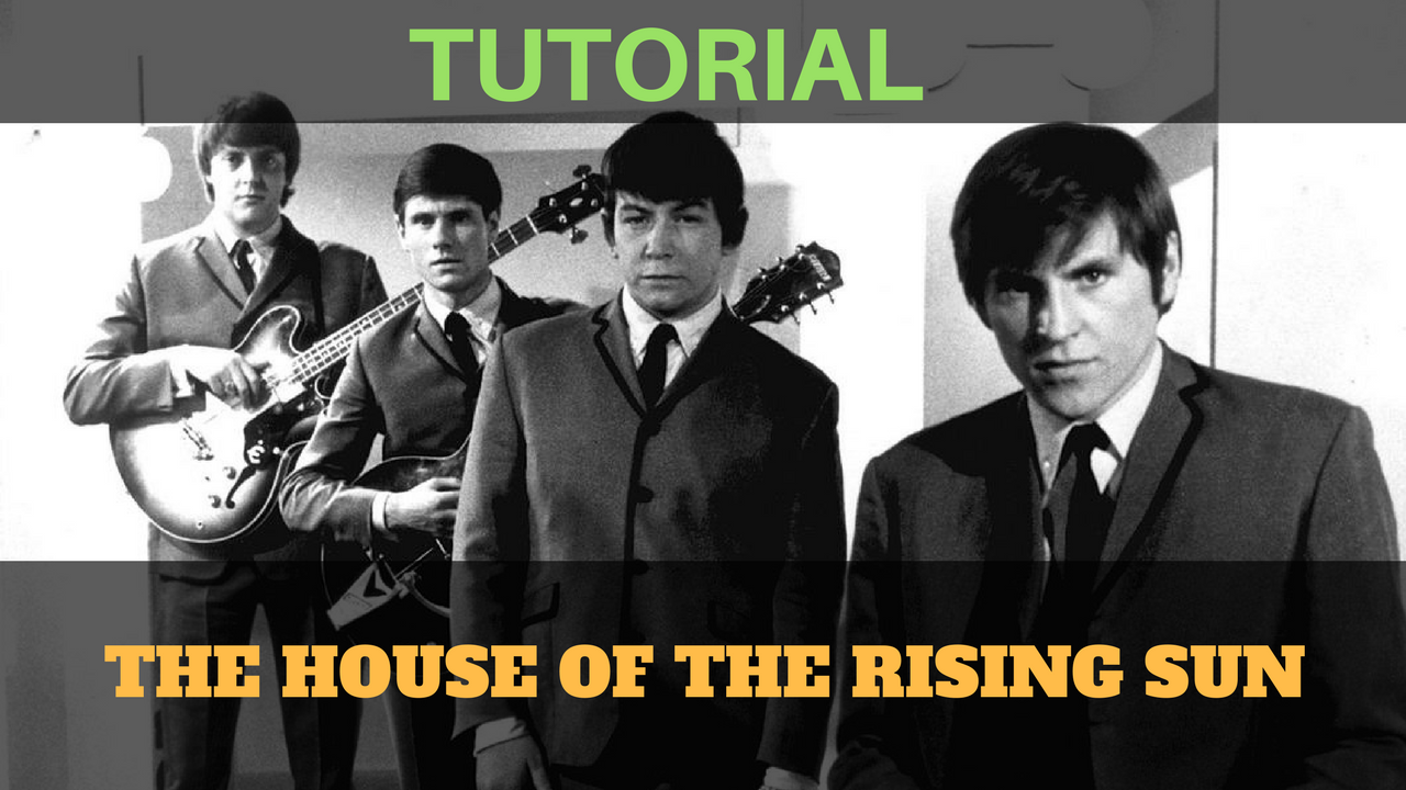 canzoni facili - arpeggio e accordi - the house of the rising sun - the animals